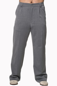 Banned Get In Line Grey 40s 50s Style Turn Up Trousers; Banned; Get In Line Trousers; Turn Up Trousers; Grey