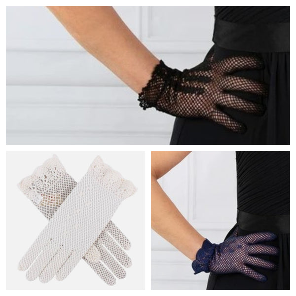 Vintage Inspired Cotton Crochet Gloves