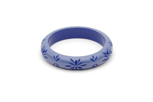 Splendette Midi Forget Me Not Carved Fakelite Bangle