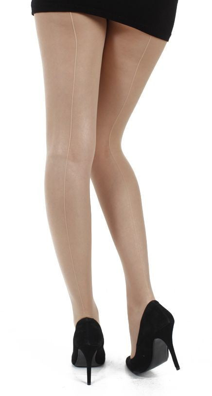Pamela Mann Jive Seamed Nude/Nude Tights; Pamela Mann; Jive tights; Seamed Tights; Nude