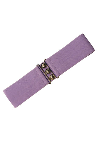 Hell Bunny Retro Elasticated Waspie 1950's Style Belt In Lavender Purple; Hell Bunny; Waspie Belt; Retro Style; 1950s Style; Elasticated Waspie Belt; Lavender Purple