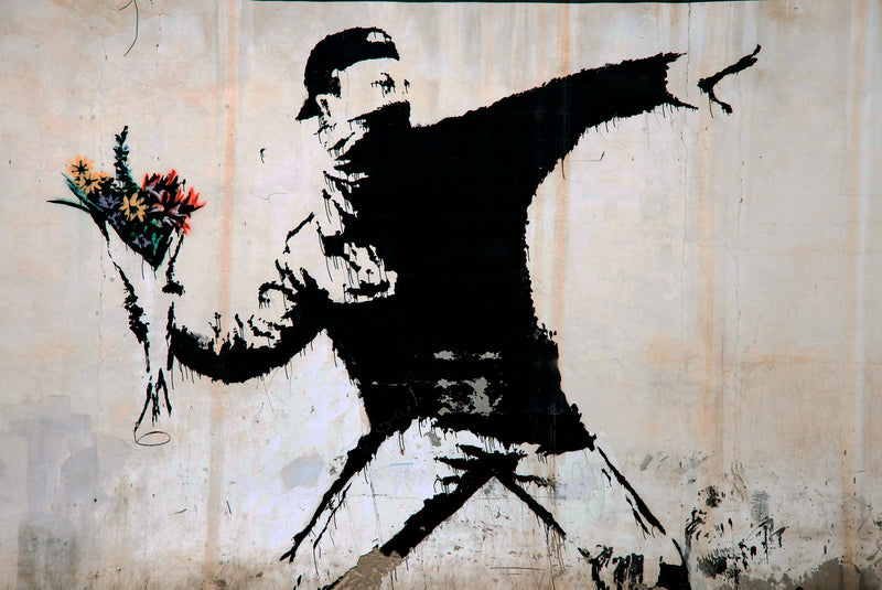 The Flower Thrower (Banksy).