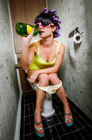 Woman on Toilet - Color.