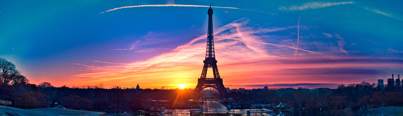 Eiffel Tower at the Sunset.