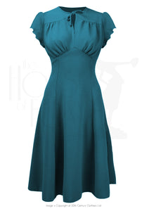 Swingkleid 40s Grable Tea, petrol