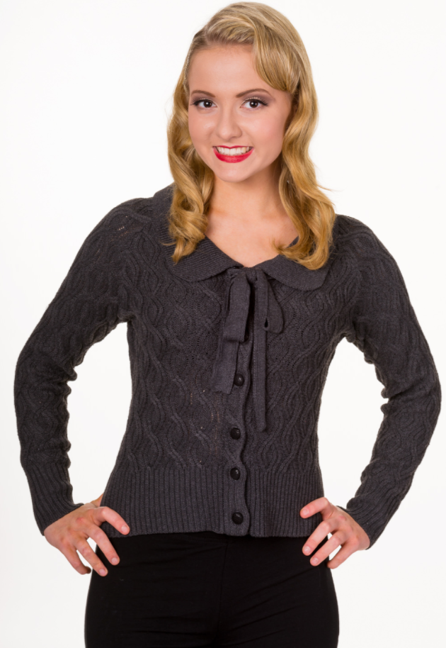 Cardigan Crystal Air, grau
