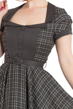 Laden Sie das Bild in den Galerie-Viewer, Swingkleid Ella Tartan, grau
