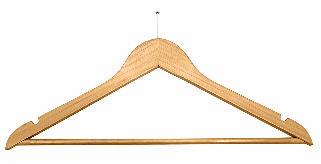 Light wood security fix hangers (100)  -  Code H0 - 39p each