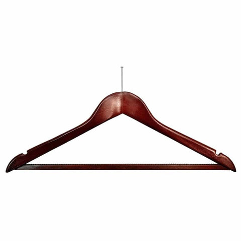 Dark wood security fix hanger (50)  -  Code H5 52p each OUT OF STOCK