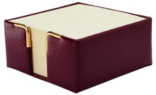 Bonded leather paper holder - Min Order 10