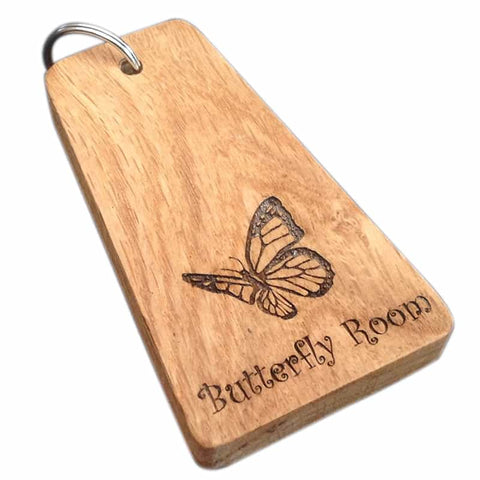 Wooden key tag