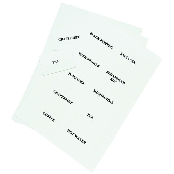 Card sheets for table signs  A4 Perforated -  £22.00 per pack