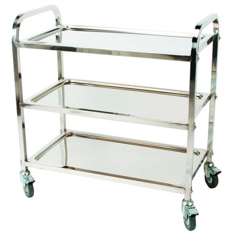 Stainless steel trolley - Self-assembly
