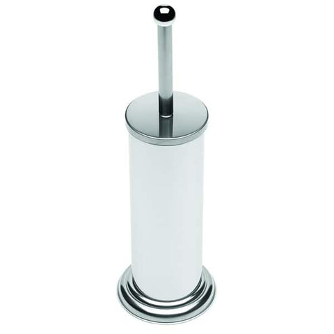 Toilet brush holder - white/chrome  -  £4.85