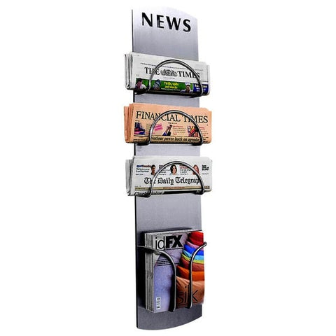 Wall-Mounted newspaper holder