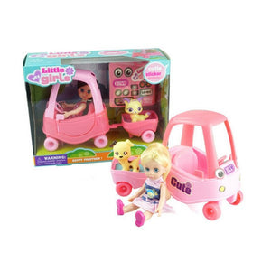 Bambola con Animale Domestico Little Girls 110692