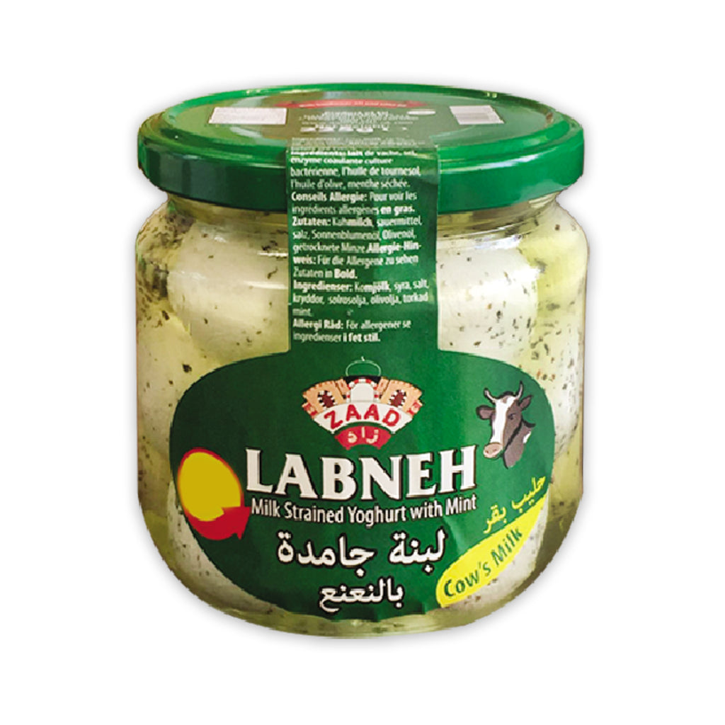Ball-shaped Labneh in Mint