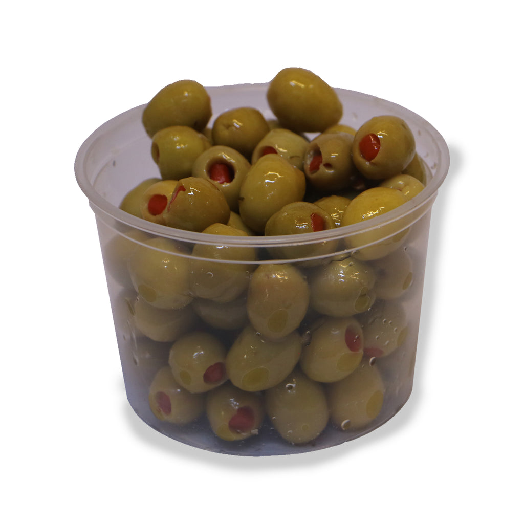 Fresh pitted green olives stuffed with pepper 300 g