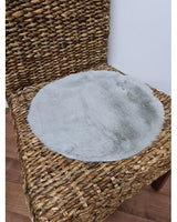 Lapin Round Chair Pad Blue 35cm