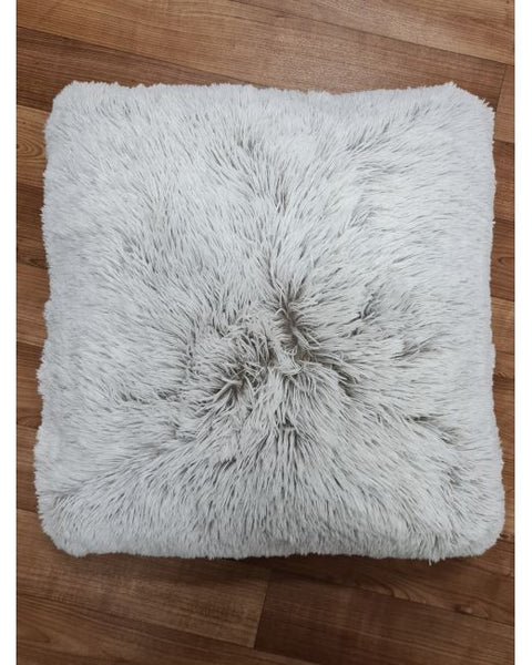 Casa Rosso Mammoth Cushion 2 Tone Taupe & White 43cm