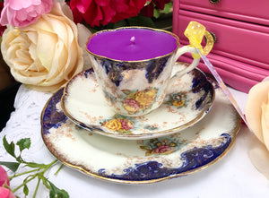 Royal Albert Teaset Trio - Set Imari with Yellow & Pink flowers