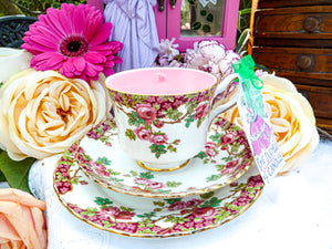 Royal Stafford Teacup Trio - Set Old English Garden