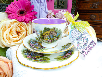 Royal Vale Teacup Trio - Set English Country Cottage