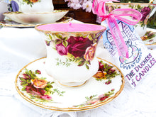 Load image into Gallery viewer, Royal Albert Coffee cup & saucer - Old Country Roses