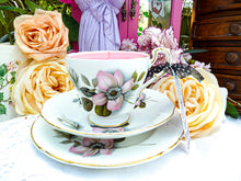 Load image into Gallery viewer, Paragon Teacup Trio set - Pompadour 'Wild Rose'