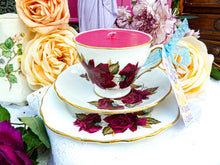 Load image into Gallery viewer, Royal Vale Teacup Trio set Velvet Rose