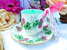 Load image into Gallery viewer, Royal Albert Coffee cup & Saucer lucky Clover