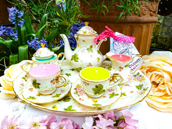 Miniature teaset on tray