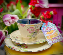 Load image into Gallery viewer, Beautiful William Morris Collection Burgundy Coffee cup Scented Soy Candle