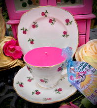 Load image into Gallery viewer, Vintage Colclough Ditsy roses Teacup Soy Candle Trio Set
