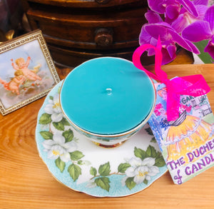 Stunning Gladstone 'Montrose' Green & Turquoise coffee cup scented Soy Candle