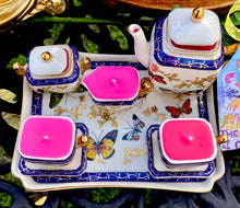Load image into Gallery viewer, Crown Porcelain , Butterfly Garden Miniature Teaset on a tray
