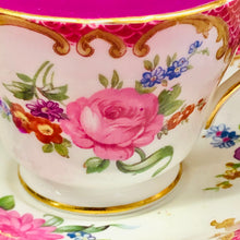Load image into Gallery viewer, Stunning Collectors 'Aynsley' Pink and Floral Coffee cup Scented Soy Candle