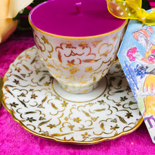 Load image into Gallery viewer, Stunning Gold Chintz Czech Coffee cup Scented Soy Candle