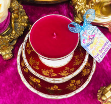 Load image into Gallery viewer, Gladstone deep Burgundy Red Teacup trio scented Soy Candle