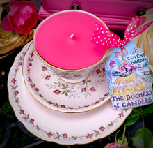 Load image into Gallery viewer, Royal Tuscan 'Charmaine' baby pink Vintage teacup Soy Candle trio set