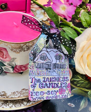 Load image into Gallery viewer, Vintage 1950s 'Bowbell' Pink Rose teacup Trio Soy Scented Candle