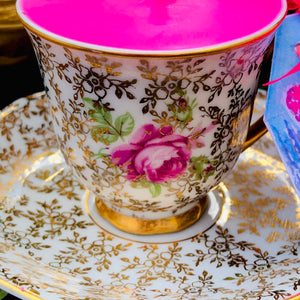 Zimco Czech 'Gold Chintz' Coffee Cup & Saucer