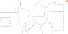 Load image into Gallery viewer, Women's BK Space Mercenary Vest Pattern inspired by Bo-Katan on The Mandalorian