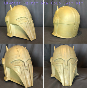 Resin Helmet Inspired by The Armorer Blacksmith (from The Mandalorian)