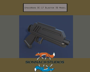 Star Wars Clone Wars Inspired DC-17 Blaster - STL Files for 3D Printing