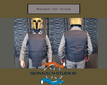 Load image into Gallery viewer, Space Mercenary Vest and Cumberbund Pattern inspired by The Mandalorian