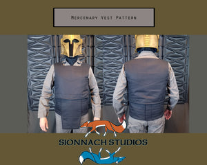 Space Mercenary Vest and Cumberbund Pattern inspired by The Mandalorian