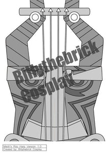 Medli Zelda Wind Waker - Prop Rito Harp for Cosplay - Blueprint