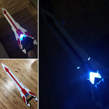 Load image into Gallery viewer, Voltron Inspired Prop Keith Sword and Bayard for Cosplay - 3D Printed Kit
