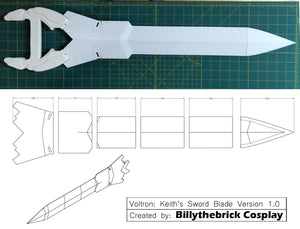 Voltron Inspired Prop Keith Sword and Bayard for Cosplay - STL Files for 3D Printing